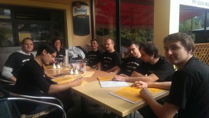 Moove team at lunch